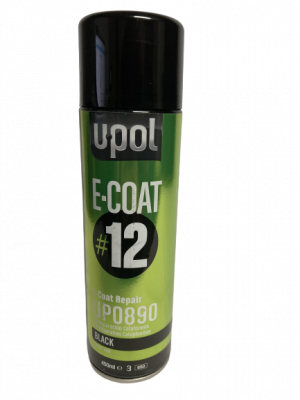 U-POL: E-COAT REPAIR DIRECT-TO-METAL COATING #12 (450ML AEROSOL) BLACK