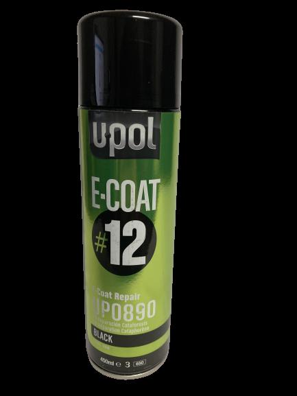 U-POL: E-COAT REPAIR DIRECT-TO-METAL COATING #12 (450ML AEROSOL) BLACK
